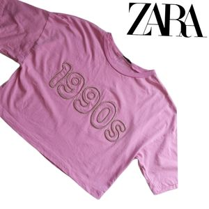 Zara   Oversized Graphic 1990s Cropped Top